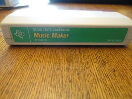 TI 99/4A Music Maker tested cartridge green label Texas Instruments chip... - $6.39