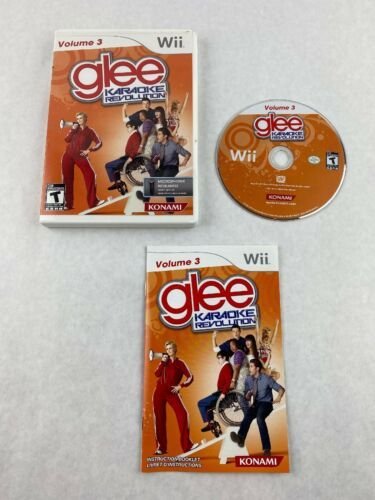 Primary image for Glee Karaoke Revolution Volume 3 Nintendo Wii Game 2011 Konami with Manual