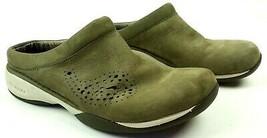 Merrell Primo Paisley Clogs Womens 7.5 US Mules Slip On Dark Olive Air Cushion - $25.25