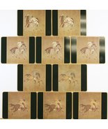 'Set of 10 Scully & Scully Ming Polo English Plate Coasters' - $250.00