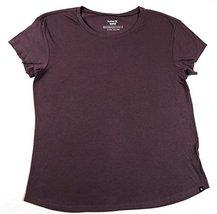 Hurley Women's Easy Crew Tee Shirt, Plum (L)