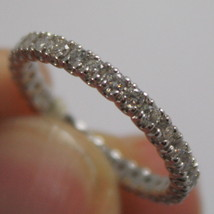SOLID 18K WHITE GOLD RING WITH WHITE DIAMONDS CT 0.66, ETERNITY, MADE IN ITALY image 2
