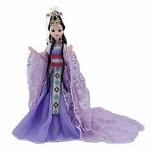 PANDA SUPERSTORE China Ancient Ball-Jointed Doll Purple Chinese Ancient Costume