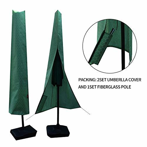 Patio Umbrella Covers With Zipper: 2set Umbrella Covers,Patio Waterproof Market Parasol