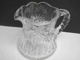 Signed Sinclaire ABP cut glass pitcher - $207.90