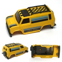 1980 Ideal TCR Vanatic Van Yellow, Black & Blue Slot Car Body - $18.80