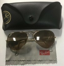 Ray-Ban Aviator Gradient RB3025 Gold Large Metal Light Brown Lens 001/3E 55-14 - $86.62