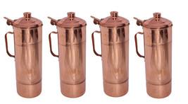 Drink Ware Set Home Kitchen Storage Drink Copper Water FRIDGE Bottle Set... - $85.04