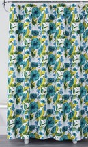 Opalhouse Green Floral Print Cotton Fabric Shower Curtain Lime Vibrant - $13.49