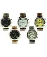 Luis Cardini Men;s Quartz Watch With Pave Crystals Dial / Leather Band - $16.99