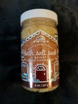 Bath & Body Works Bath Salt Soak With Argan Oil 8 oz Bright Lemon Snowdrop - $14.99