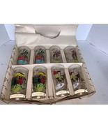 Vintage Box of 8 Anchorglass Gay Nineties Party Glasses - $35.00