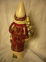 Vaillancourt Folk Art Brocaded Coat Santa Signed by Judi Vaillalncourt image 3