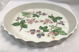 Vintage Portmeirion Pottery Botanical Gardens Quiche Baking Dish - $18.99