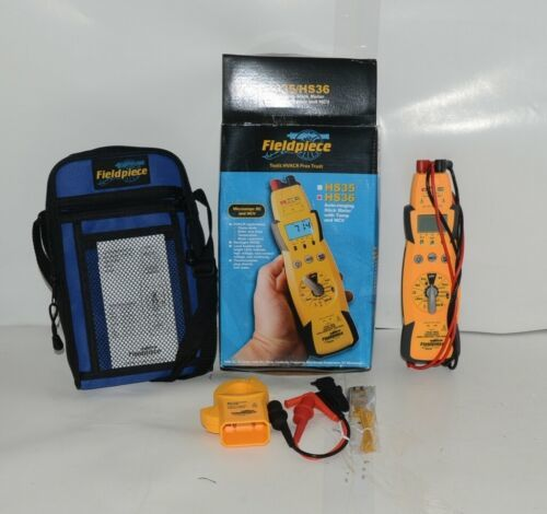 Fieldpiece HS36 Auto Ranging Stick Meter Temperature NVC Padded Case