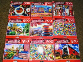 Lot of 2 New 500 Piece Jigsaw Puzzles Mystery Lot Animals~Landscapes~Foo... - $11.99