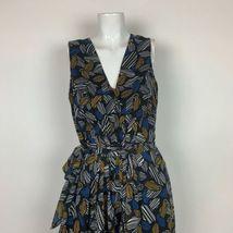 Anne Klein Dress Geometric Sleeveless Belt Multicolor Sz 12 NEW NWT image 3