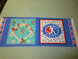 """756. Two-Sided LITTLE LEAGUE BASEBALL Craft PILLOW Panel - 44"""" x 1/2 Yd. - $4.95"""
