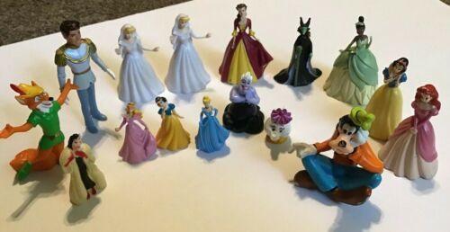 Disney Princess PVC Figures Lot Set Cake Toppers Prince Ursula Belle Cinderella