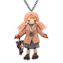 (brown)Bonsny Winter Handmade Cloths French Paris Doll Necklace Long Cha... - $26.00