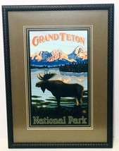 Grand Teton National Park Moose In Lake Framed Matted Art Print Paul A. Lanquist - $92.98