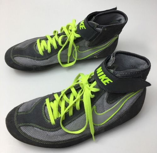 Mens NIKE SPEEDSWEEP VII 7 366683-007 Wrestling Shoes MMA Gray Volt Yellow