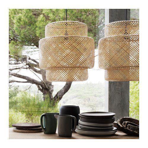 IKEA SINNERLIG Pendant Lamp, Bamboo, 703.150.30 - BRAND NEW IN BOX