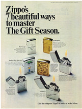 Vintage 1968 Magazine Ad For Zippo Lighter Ways To Master The Gift Season - $5.93