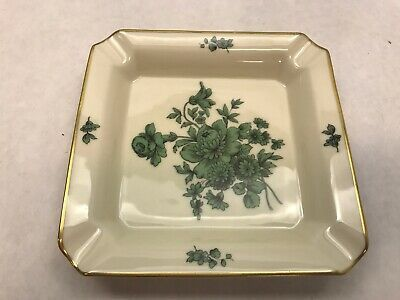 Primary image for ROSENTHAL Chippendale GREEN Bloom Greenbriar Square DISH Bahnhof Selb GERMANY