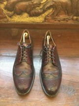 Men's Cole Haan Burgundy  Brown Leather Wing Tip Shoes Size 11.5 M/USA - $43.55