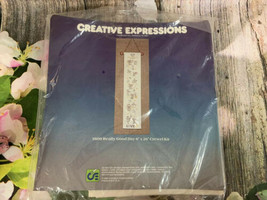 "VTG Creative Expressions 6x26"" Long Good Day Mice Crewel Scroll Kit NIB - $9.50"