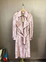 100% AUTH NEW BURBERRY PINK LACE LADIES TRENCH COAT JACKET