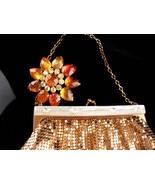 Gold Flapper purse / vintage Whiting & Davis mesh purse / Joan rivers br... - $165.00
