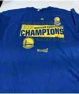 Majestic Sz 2XL Western Champion Golden State Warriors NBA Basketball T ... - $9.70