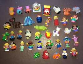 Used LOT 40 Fisher Price Little People Tonka Peppa Pig Sesame Street Toy... - $29.65