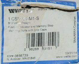 Watts Bronze Balancing Ball Valve Design Position Indicator Memory Stop 0856739 image 8