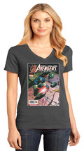 Avengers Disassembled District Made Ladies Perfect V-Neck T-Shirt Size XS To 4XL - $19.99+