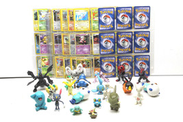 Very Cool Pokemon 150+ Card w/Sleeves+Figure Lot  2000 - 2012 Vintage Fun Group  - $36.45