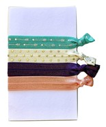 No Crease Hair Tie 4 Pack Elastic FOE Ponytail Holder 'Katniss' - $4.99
