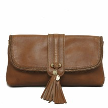 Rare GUCCI Marrakech Brown Leather Evening Flap... - $650.49