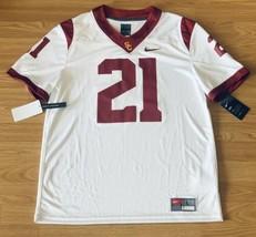 Nike USC Trojans Dri-Fit #21 White Crimson Football Jersey Size XL NEW - $89.09