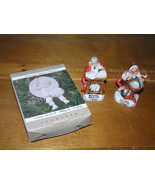 Lot of 3 1980 1982 Porcelain Normal Rockwell SANTA & Globe & Accounting ... - $13.99