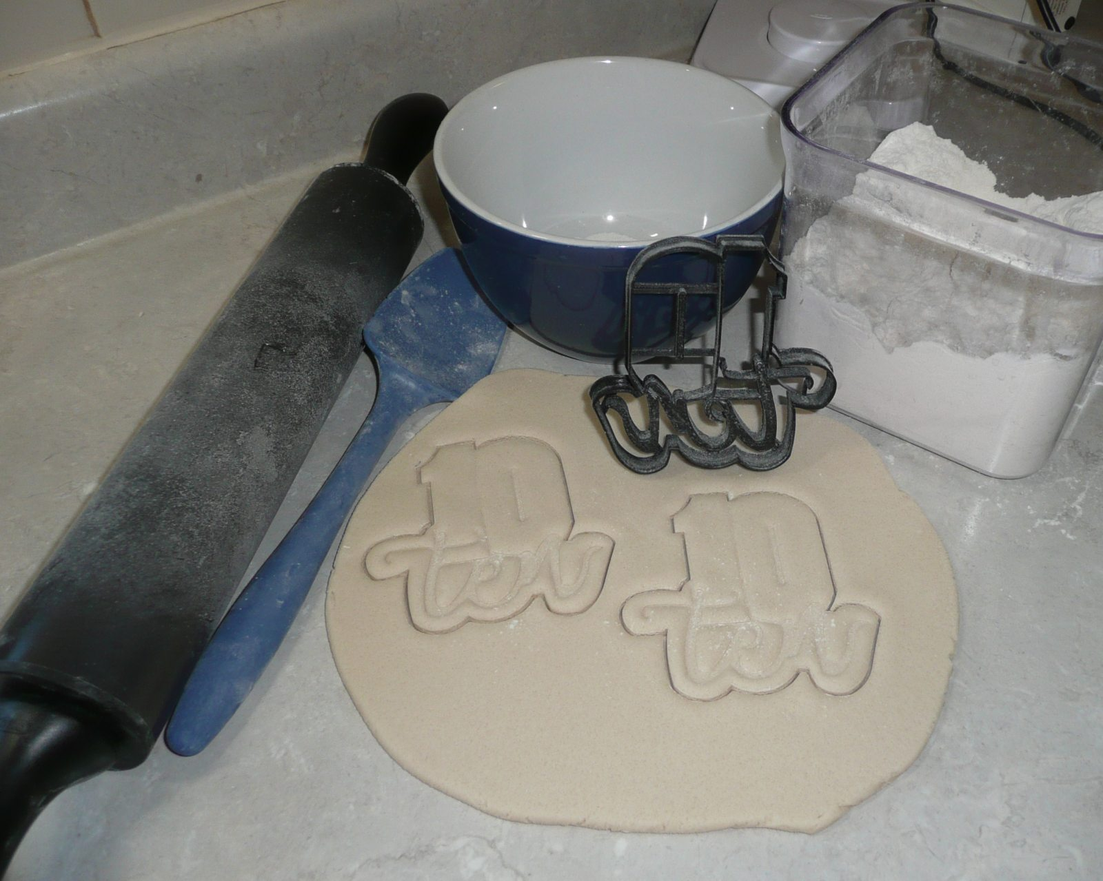 Number Ten 10 With Word Birthday Anniversary Cookie Cutter 3D Printed USA PR2411