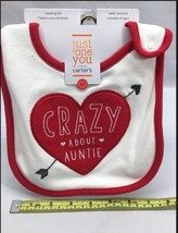 **Crazy About Auntie Valentine's Day bib teething Carters Just for one A4 - $5.15