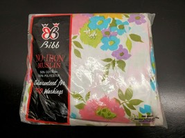 Vintage Bibb No-Iron Muslin Double Fitted Bottom Sheet - Made in the USA - $27.73