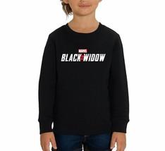 Marvel Studios Black Widow Official Movie Logo Children's Unisex Black S... - $24.08
