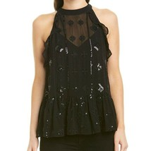 Generation Love black Aria embellished peplum tank top extra small MSRP 297 - $100.00