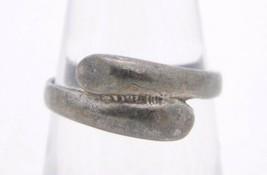 VTG .925 Sterling Silver Overlap Metal Ring 6 - $19.80