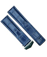 22mm Blue Leather Watch Band Strap Made For Tag Heuer Monaco CAW211R.FC6401 - $32.71