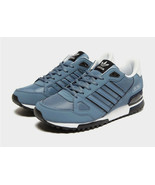adidas Originals Mens ZX 750 Trainers Light Grey/Blue/Black Sneakers All... - $170.74